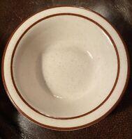 Vintage Buffalo China Brown Rim USA 511A Small Bowl Restaurant Ware Ice Cream