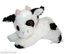 """Fiesta Big Eye Laydown COW 9"""" Plush Stuffed Farm Animal Toy NEW"""