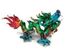 Miniature Dragon Glass Blown animals figurine Art glass figurine dollhouse