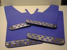Blue RALLY Mud Flaps Splash Guards fits NISSAN NAVARA D40 D23 (2005on)