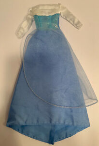 Genuine Barbie Princess Cinderella Blue Gown Doll Clothes Dress Only