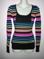 New Billabong Striped Knit Jumper Sz 10 - 12 RRP $89 Elsa Sweater Jersey Top
