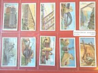 1927 ENGINEERING WONDERS world machinery 50 card set Tobacco Cigarette cards