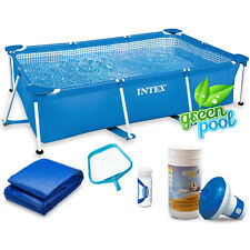 6 in 1 Green Pool Gartenpool Schwimmbecken 220x150x60cm Pool 28270 INTEX