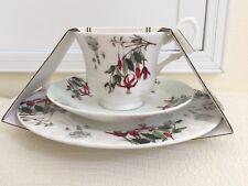 Roy Kirkham Fine Bone China Large Cup Saucer Plate set England Floral Porcelain
