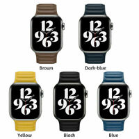 Leather Link Loop iwatch Band Strap For Apple Watch Series 6 5 4 3 2 1 SE 38-44