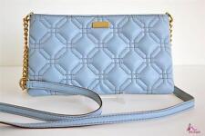 KATE SPADE Blue Leather Designer Classic Crossbody Shoulder Bag Purse Clutch NWT
