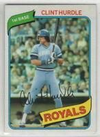 1980 Topps Baseball Kansas City Royals Team Set