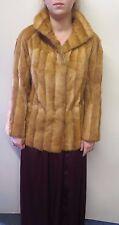 Vintage Genuine Light Brown European Mink Fur coat Jacket M UK 10/12 Euro 38/40