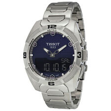 Tissot T-Touch Expert Solar Blue Dial Titanium Mens Watch T0914204404100