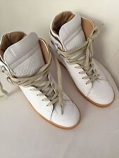 Maison Martin Margiela for H&M High Top Sneakers Weiß White Leder 40 US 9 UK 7