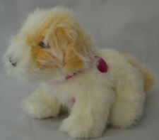 """10"""" 2007 Barbie Light Up Heart Interactive Puppy Dog Toy Plush Brown White"""