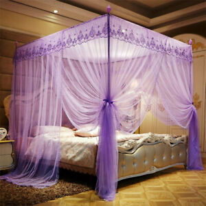 1.8x2m Four Corner Mosquito Net Pest Bed Netting Curtain Panel Bedding Canopy