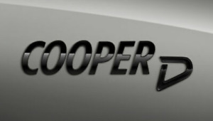 Genuine MINI Piano Black Cooper D Badge Emblem Plaque F54/55/56/57/60 2465248