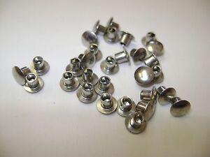 1//8 X 2-1//16 X 7//32 Oval SEMI-Tubular Steel Rivets ZINC Plated/_100 pcs Box