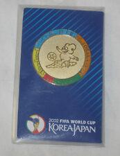 2002 FIFA World Cup Korea Japan Lapel Pin Badge Gold Mascot Official Emblem New
