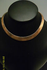 Copper or Gold Coloured Antique Metallic Slinky Style Necklace Choker Vintage