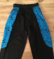 Vintage Pants Nixit Break Dance Hip Hop 80s Mens 28/29* Blue Black Color Block