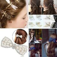 KQ_ IC- FT- FT- AU_ CO_ AU_ Fashion Women Heart Moon Hair Pin Hair Clip Barrette