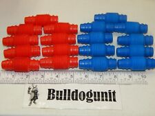 Vintage Tomy Popoids Colossal Cosmic Set Lot of 18 Red Blue Bendable Pieces Only