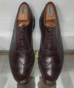 Allen Edmonds Chester Wingtip Leather Dress Shoes   Men's Size 10.5 D Burgundy