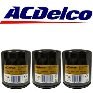 ACDelco UPF48R Engine Oil Filter Fits Buick Chevy GMC Pontiac Saturn OEM 3 Pack