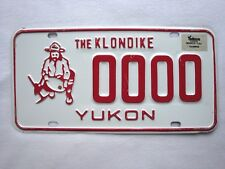 1984 YUKON SAMPLE Vintage License Plate # 0000