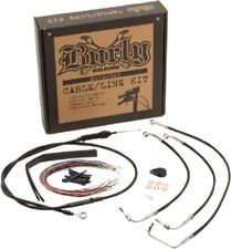 """15"""" APE BLACK EXTENDED CABLE KIT W/ ABS HARLEY STREET GLIDE ELECTRA ULTRA 08-13"""