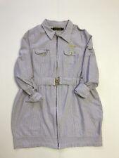 Coogi 1x Womens Dress Long Sleeve Zipper Down Purple