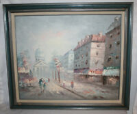 OIL PAINTING ON CANVAS STREET SCENE SIGNED MARQUET