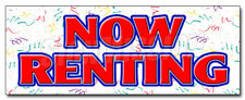 NOW RENTING DECAL sticker for lease rent office retail space apartment