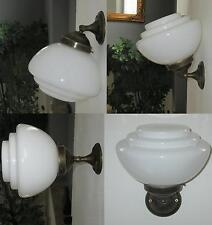Hängelampe Wandlampe Deckenlampe Art Deco Jugendstil Bauhaus Glas Messing Antik