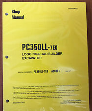 Komatsu Service PC350LL-7E0 Shop Repair Manual NEW