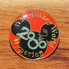 "Walt Disney World Hyperion 2000 Round Circular 1"" Inch Collectible Pin / Brooch!"