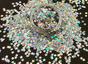 12 Colours Nail Art STAR 3mm Holographic 3D Glitter Shining Sequins Christmas