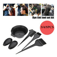 Hair Salon Coloring Dyeing Kit Color Dye Brush Comb Mixing Bowl Tint Tools