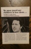 We must guard our children or lose them REVIEW OF NEWS John L. Grady, M.D. C21