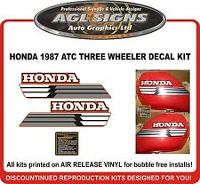 1987 HONDA ATC 250ES Decal kit  reproductions  250 ES