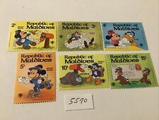 Disney: 6 Republic of Maldives Stamps Mickey and the Gang Mnh, Lot #5570