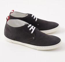 NIB $1150 KITON Charcoal Gray Suede Lightweight Chukka Sneakers US 9 Shoes