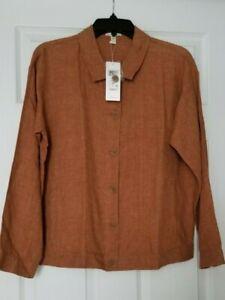 New Eileen fisher solol  organic linen jacket. Szs/p. RT$258
