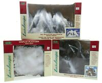 3 Piece Lemax Village Collection Ski Mountain Backdrop Display with Trees in Box