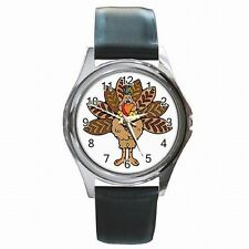 Thanksiving Turkey Holiday Accessory Leather Watch New!