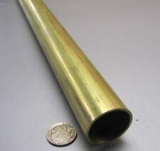 "260 Brass Tube 1 1/4"" OD x .065"" Wall x 1.12"" ID x 3 Ft Length"