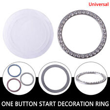 Diamond Rhinestone Ring Decor Silver Car Accessories Bling Button Start Switch