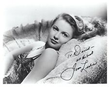 JOAN LESLIE HAND SIGNED 8x10 PHOTO+COA     STUNNING   BEST POSE EVER    TO DAVID