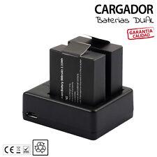 Cargador bateria + 2 baterias para CAMARA SJCAM SJ4000 SJ7000 3.7V 900mAh Li-ion