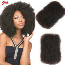 Sleek Human Hair Unprocessed Brazilian Virgin Hair Afro Kinky Bulk Natural Color