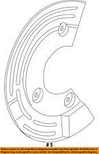 FORD OEM Rear Brake-Backing Splash Dust Shield Plate DG1Z2C029A