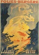 Jules CHERET La danse du feu, 1897, Art Nouveau Belle Epoque poster